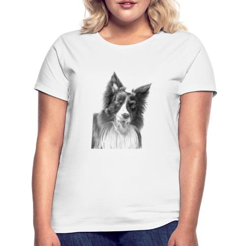 border collie 3 - Dame-T-shirt