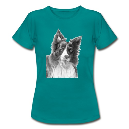 border collie 3 - Dame-T-shirt