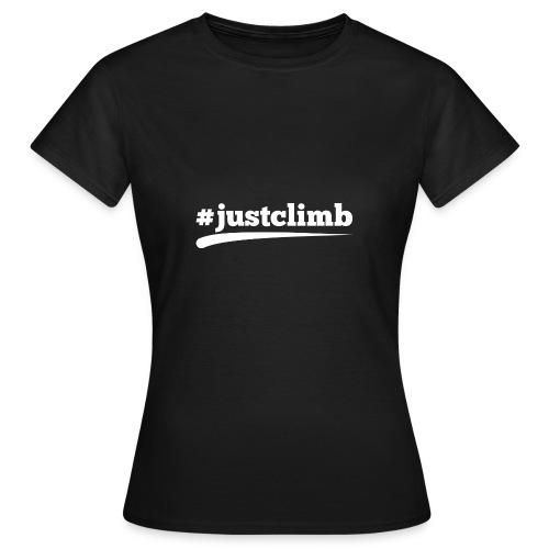 #JUSTCLIMB - Frauen T-Shirt