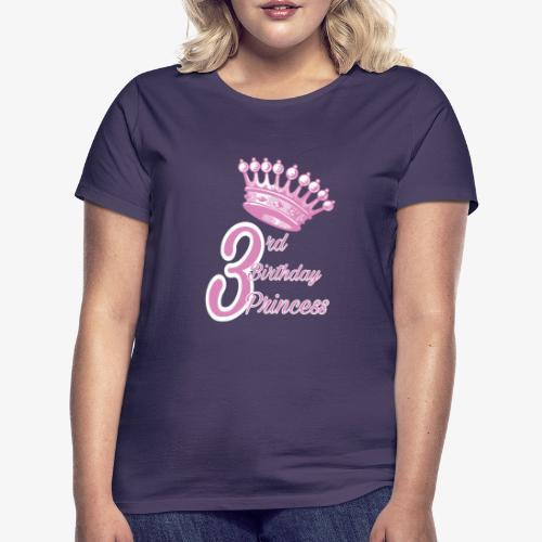 3rd Birthday Princess - Maglietta da donna