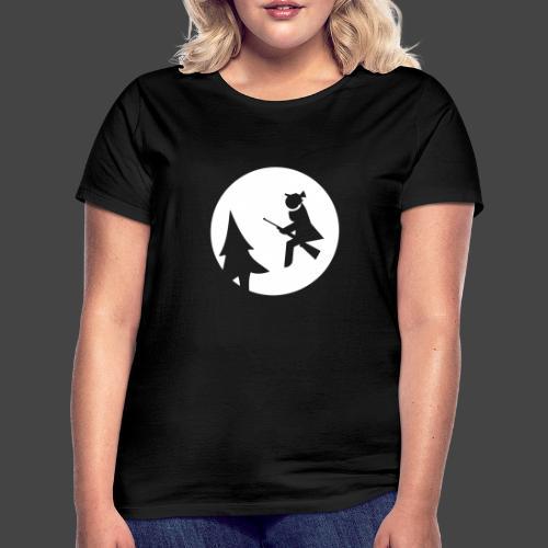 Jagdhexe in der Nachtschicht bei Schweinesonne - Frauen T-Shirt