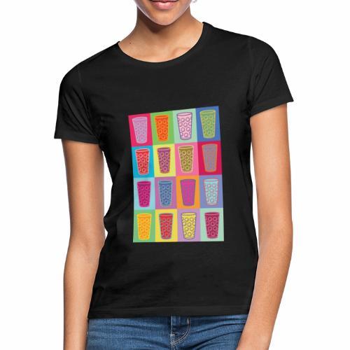 Farbige Dubbegläser - Frauen T-Shirt