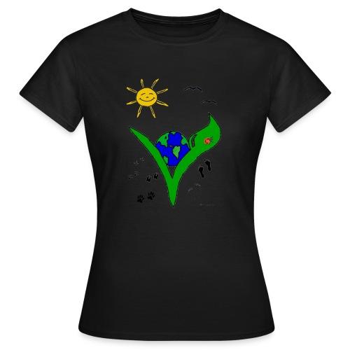 Ein Logo geht um die Welt - Frauen T-Shirt