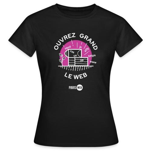 Ouvrez grand le web - T-shirt Femme