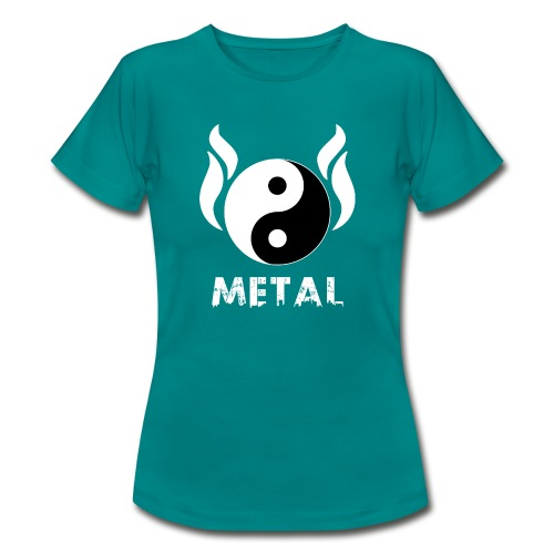 YIN YANG METAL - Frauen T-Shirt