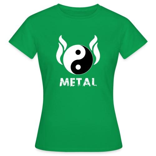 YIN YANG METAL - Frauen T-Shirt