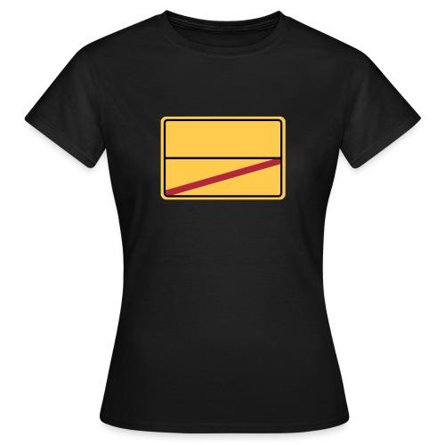 Ortsschild Ende - blanko - Frauen T-Shirt