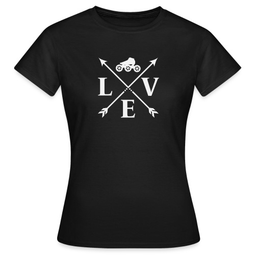 Speedskating Love Weiss - Frauen T-Shirt
