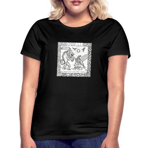 Le Dieu Odin contre le loup Fenrir - T-shirt Femme