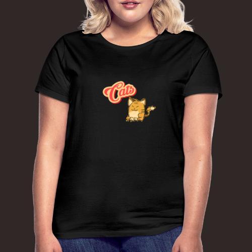 Katze | Katzen süß Schriftzug - Frauen T-Shirt