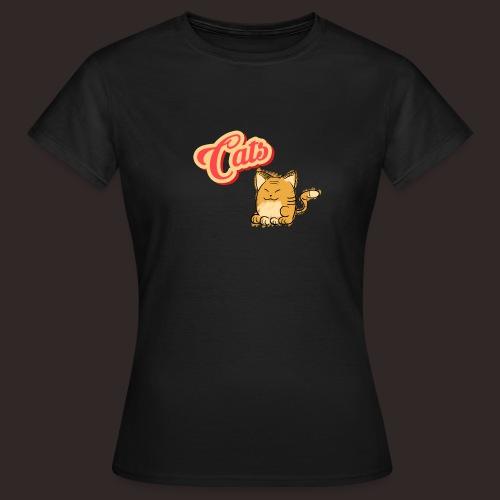 Katze   Katzen süß Schriftzug - Frauen T-Shirt
