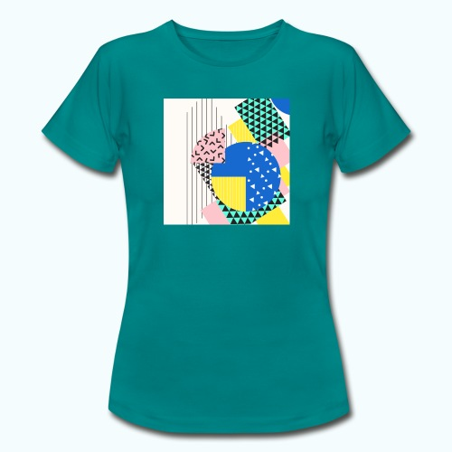 Retro Vintage Shapes Abstract - Women's T-Shirt