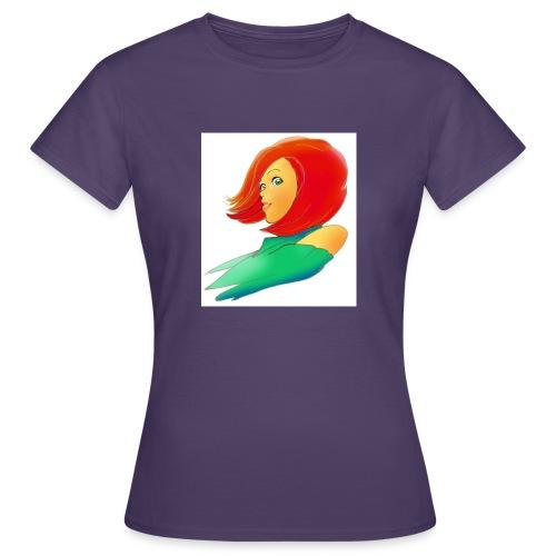 viso di ragazza - Maglietta da donna