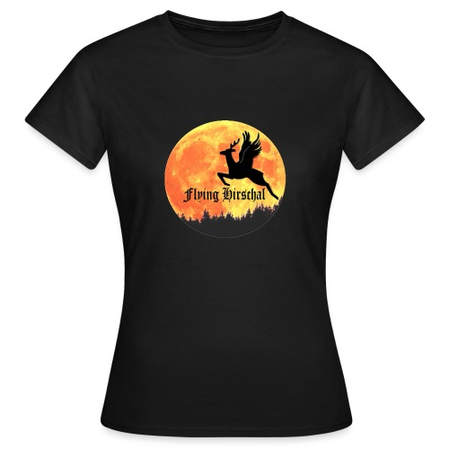 flying hirschal mond - Frauen T-Shirt
