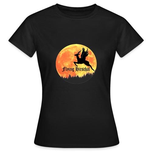 flying hirschal mond - Frauen T-Shirt