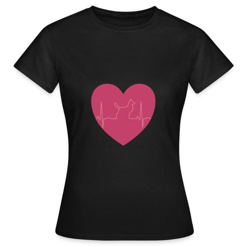 Herz Hund - Frauen T-Shirt