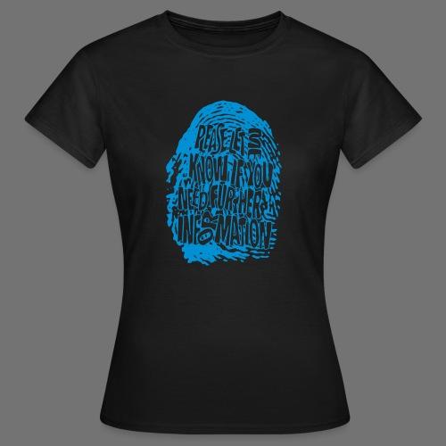 Fingerprint DNA (blue) - Frauen T-Shirt