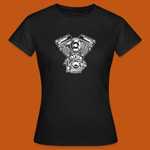 Motorrad Motor / Engine 01_weiß - Frauen T-Shirt
