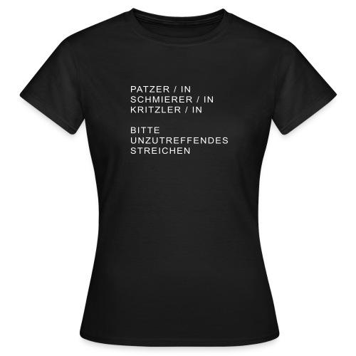 kunst patzerin - Frauen T-Shirt