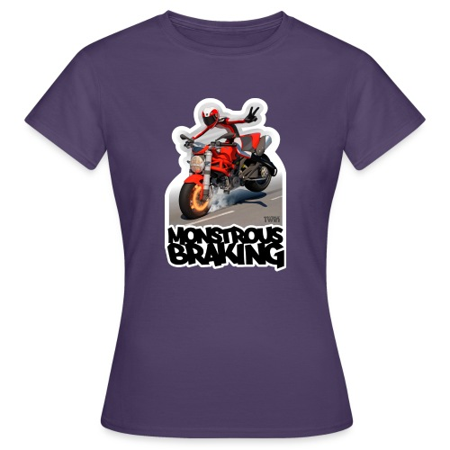 Ducati Monster, a motorcycle stoppie. - Camiseta mujer