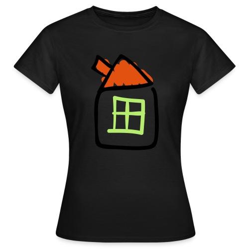 House Line Drawing Pixellamb - Frauen T-Shirt