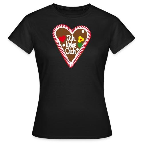 Lebkuchenherz Ich liebe Dich - Frauen T-Shirt