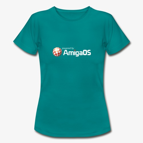 PoweredByAmigaOS white - Women's T-Shirt
