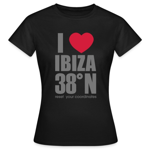 heartibiza 38north rg - Women's T-Shirt