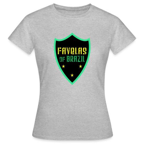 FAVELAS OF BRAZIL NOIR VERT DESIGN - T-shirt Femme