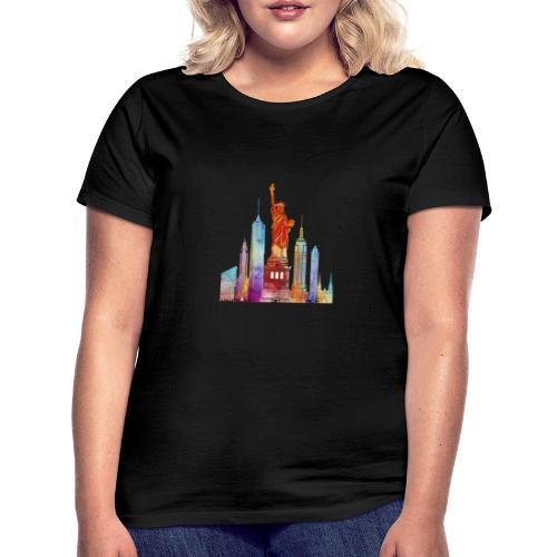 new york city watercolor - T-shirt Femme