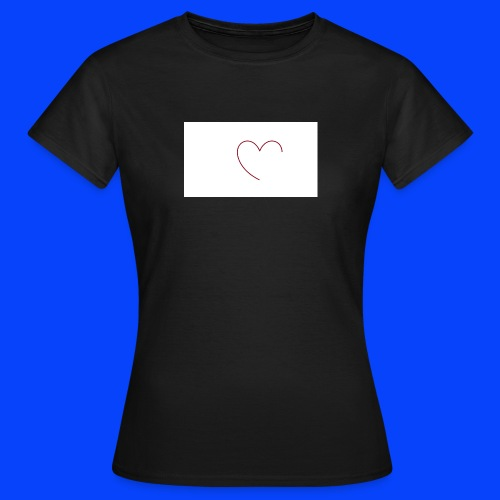 t-shirt bianca con cuore - Maglietta da donna