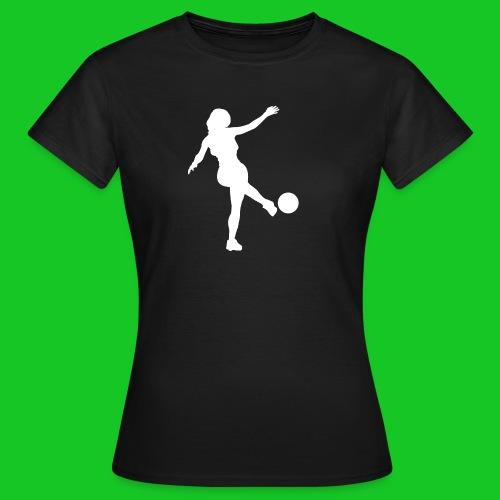 Voetbal vrouw - Vrouwen T-shirt