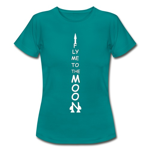 Fly me to the moon (MS paint version) - Vrouwen T-shirt