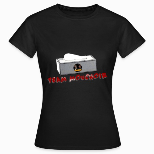 team mouchoir logo version noir sans vitesse png - T-shirt Femme
