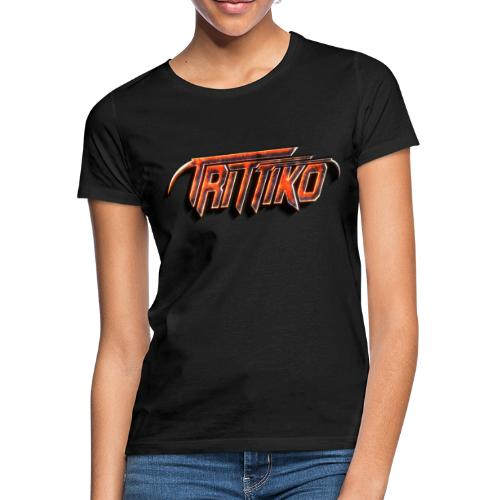 Trittiko Logo Rot 3D - Frauen T-Shirt