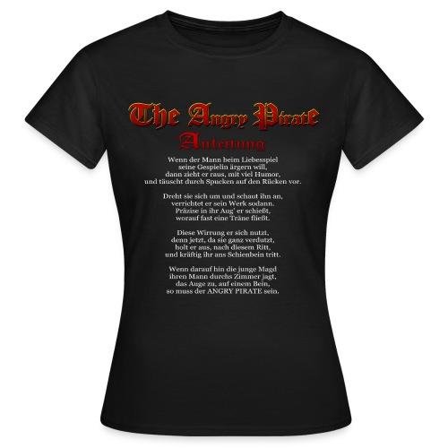 The Angry Pirate (Anleitung als Gedicht) weiss - Frauen T-Shirt