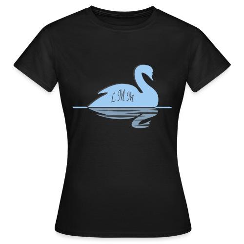 Cygne bleu ciel png - T-shirt Femme