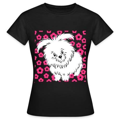 Cute White Dog - Women's T-Shirt