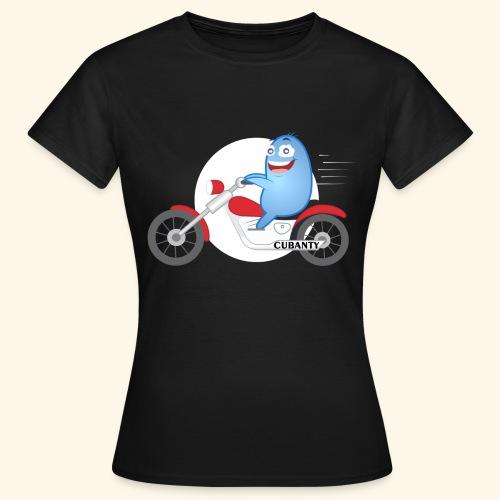 Cubanty mit Motorrad - Frauen T-Shirt