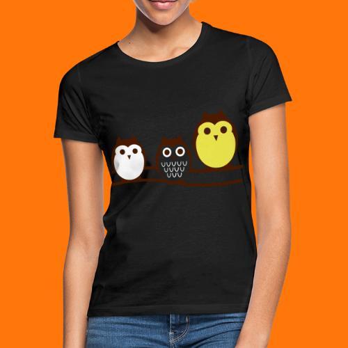 drei süsse Eulen - Frauen T-Shirt