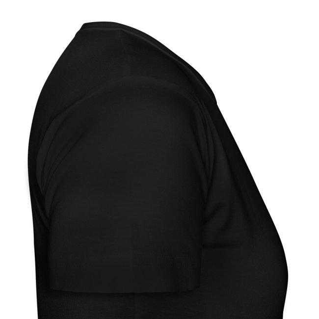 T-shirt black logo white