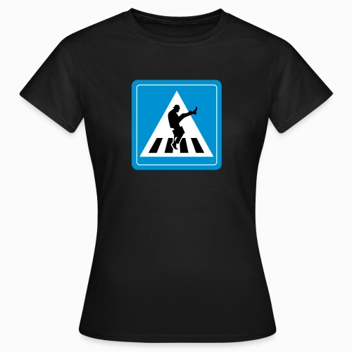 Silly walk zebrapad verkeersbord Zierikzee Zeeland - Vrouwen T-shirt
