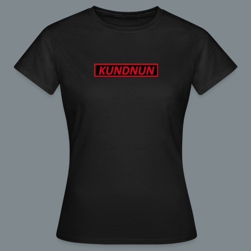 Kundnun zwart rood - Vrouwen T-shirt