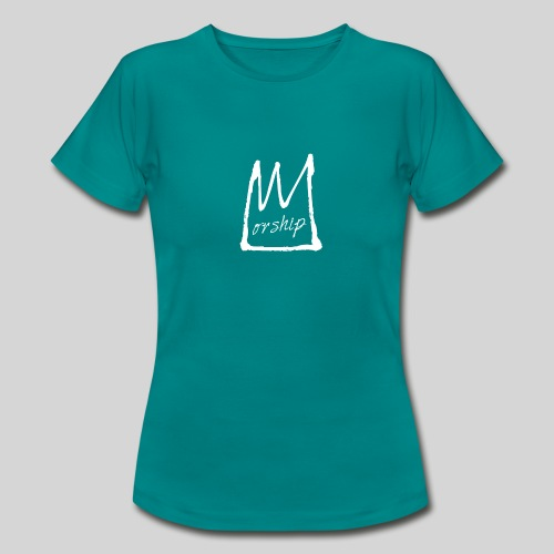 Worship Krone weiß - Lobpreis zu Jesus / Gott - Frauen T-Shirt