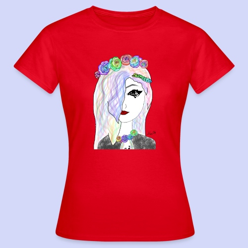 Rainbow flower girl - Female shirt - Dame-T-shirt