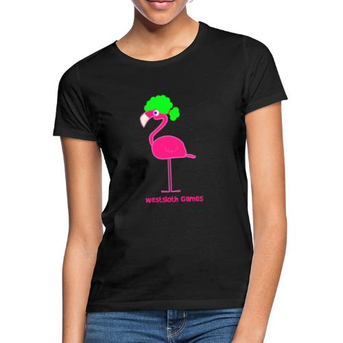Green Afro Haired Flamingo - Naisten t-paita