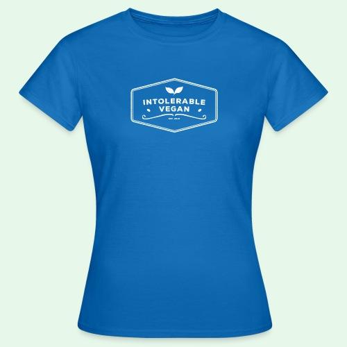Intolerable Vegan Logo - White - T-shirt dam