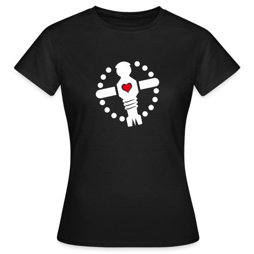 KoelnerKickerliga Logo 4c image weis png - Frauen T-Shirt
