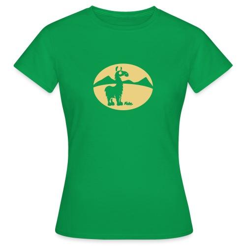 Lama Landschaft (inv) - Frauen T-Shirt