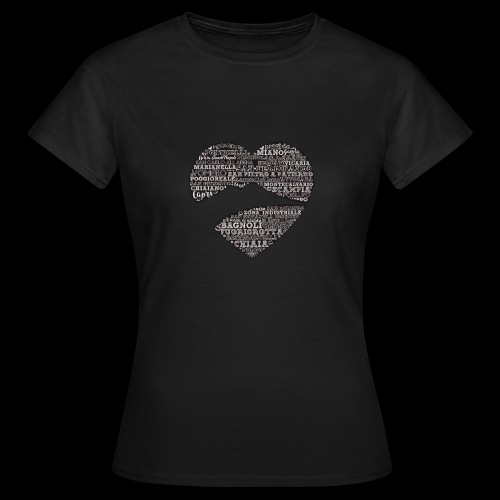 cuordinapoli black - Maglietta da donna